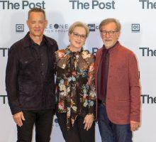 Steven Spielberg, Meryl Streep e Tom Hanks, trio di miti a Milano: le foto