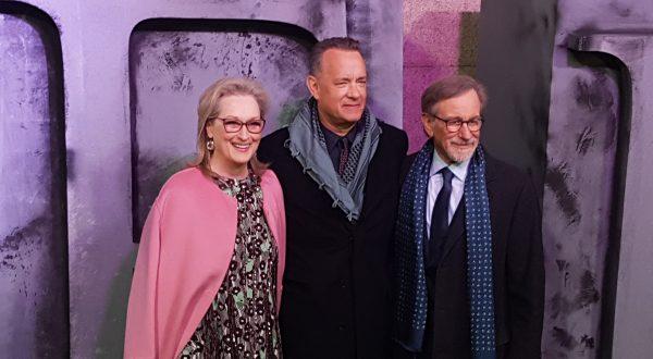Meryl Streep, Tom Hanks e Steven Spielberg a Milano per The Post: tre miti sul red carpet