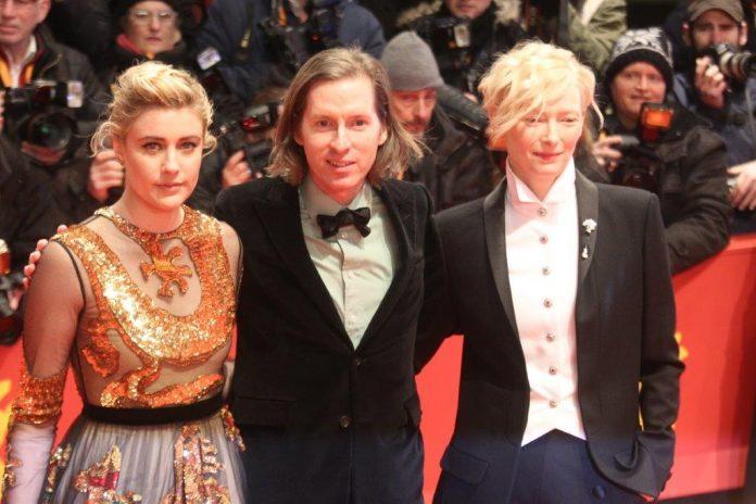 Greta Gerwig, Wes Anderson e Tilda Swinton