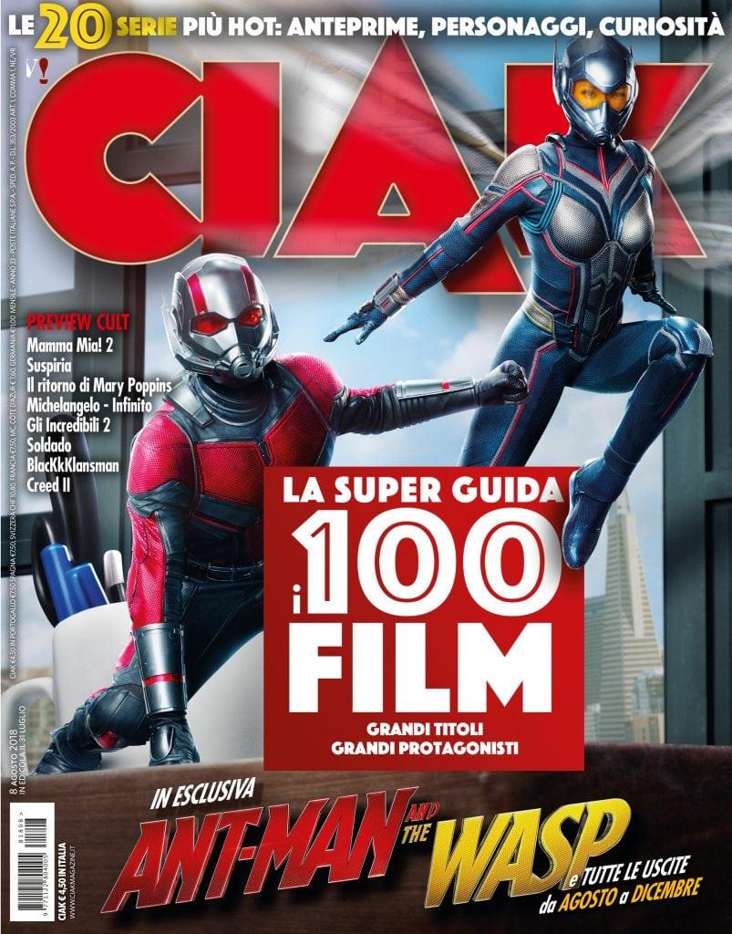 Copertina Ciak Magazine agosto 2018