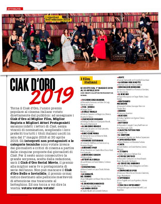 Ciak d'Oro 2019