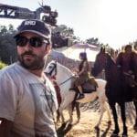 Il regista Matteo Rovere sul set di Romulus