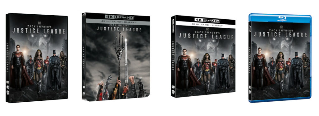 Justice League dvd Blu ray pack