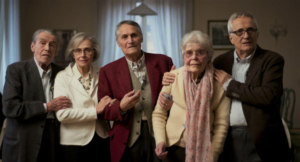 Piergiorgio, Letizia, Alberto, Maria Luisa e Marco Bellocchio