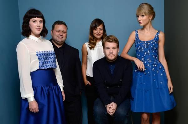 Da sinistra: l'attrice Alexandra Roach; il vero Paul Potts, l'attrice Valeria Bilello; l'attore James Corden e la cantante Taylor Swift (Photo by Larry Busacca/Getty Images)