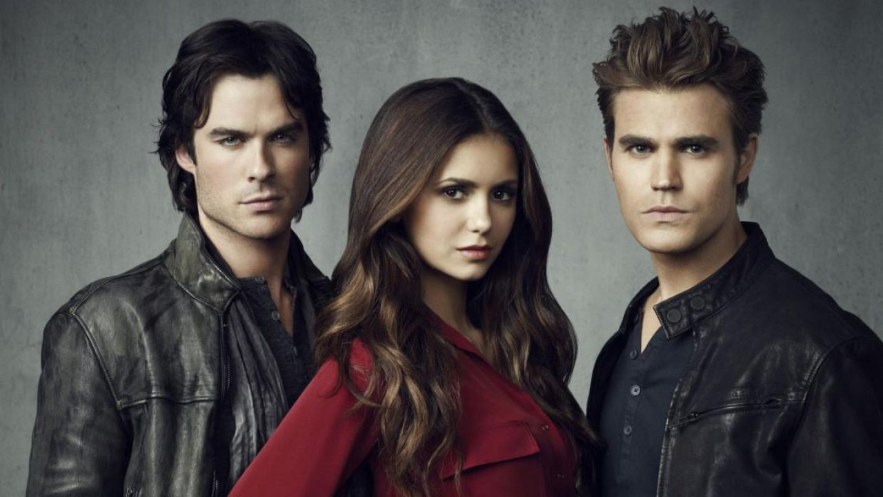 The Vampire Diaries Elena Damon Stefan